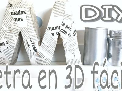DIY.DECORA tu cuarto con LETRAS DE CARTÓN en 3D chulísimas y fáciles.
