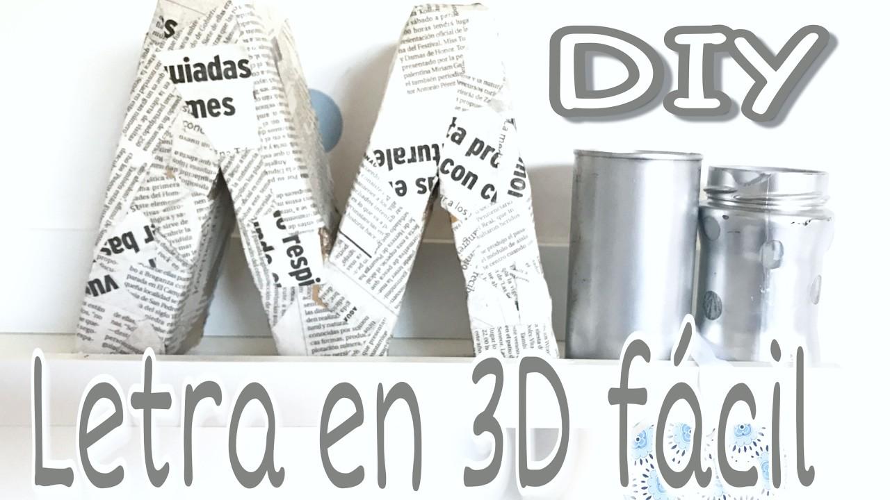 Diy decora tu cuarto con letras de cart n en 3d chul simas for Decora tu cuarto reciclando