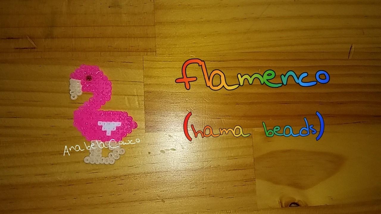 Flamenco de hama beads. flamingo perler beads PIXELART