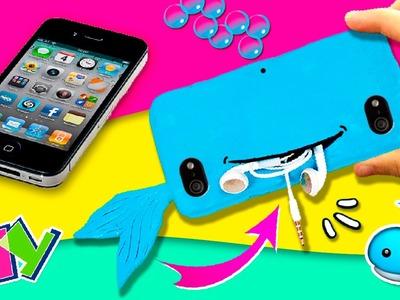 ???? Funda DIY de silicona para CELULAR con BOLSILLO * Guarda tus cosas en tu ???? BALLENA KAWAII