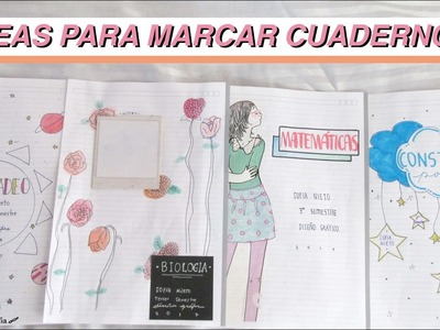 IDEAS PARA MARCAR TUS CUADERNOS | DIY with Sofia
