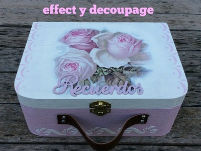 Maleta decorada con chalk paint y servilletas decoupage