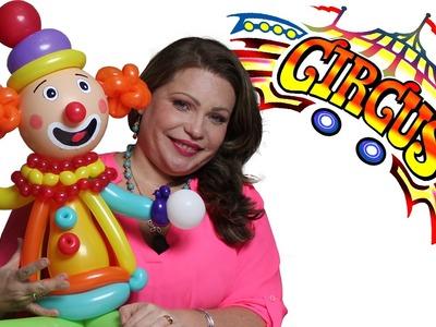 Parte II La Bufanda o Faralado Payasos Circo y Leones DIY. Balloons Clown Circus scarf
