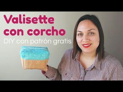 Valisette con corcho DIY con patrón gratis