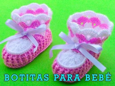 Botitas tejido a crochet para bebé de 4 meses