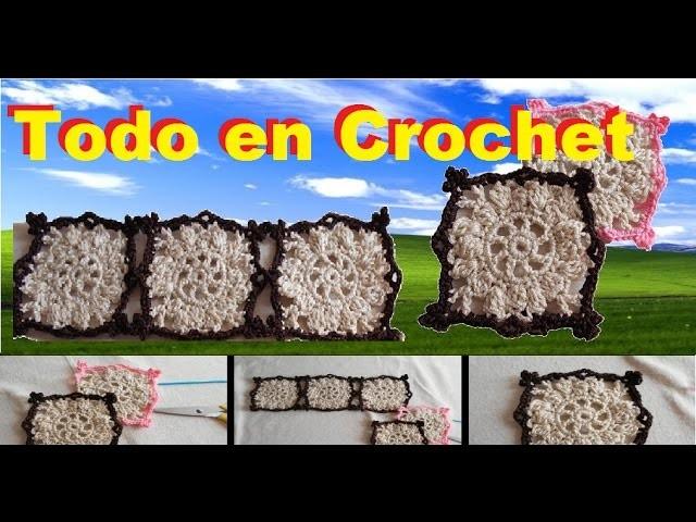 Como tejer granny square bicolor a crochet