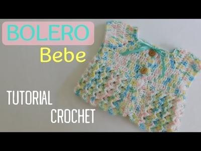 Como tejer un bolero para bebe a crochet
