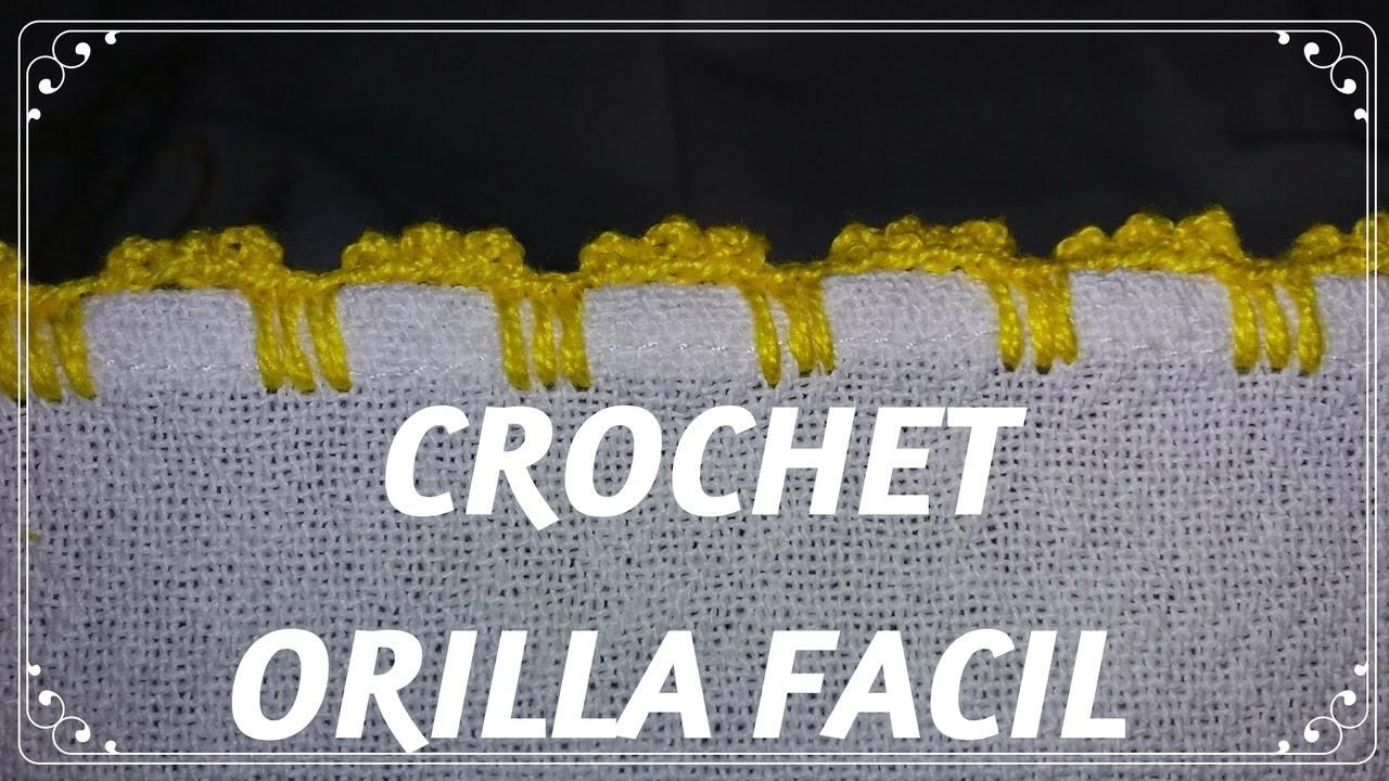CROCHET  Orilla FACIL  para Principinates #4