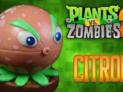 DIY CITRON | POMELO Cold Porcelain. Polymer Clay Tutorial | PLANTS VS ZOMBIES 2