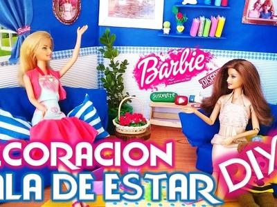 DIY|Como hacer SALA para Casa Muñecas Barbie| ESPECIAL 1000 SUBS|Manualidad para muñecas