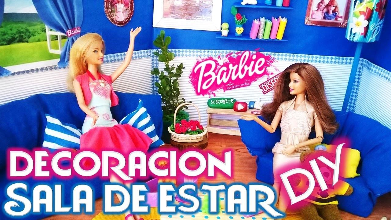 Diy como hacer sala para casa mu ecas barbie especial for Sala de estar barbie