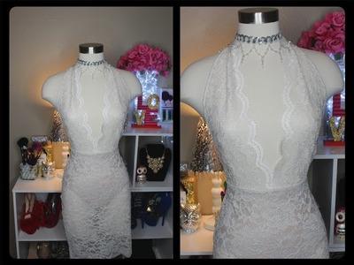 DIY Vestido.Lace dress. Vestido de Encaje