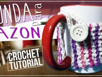 Funda Tejida en Crochet Para Tazon - Tutorial Paso A Paso