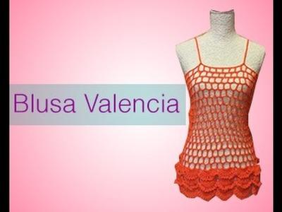 TEJIDA BLUSA VALENCIA - Crochet Fácil y Rápido
