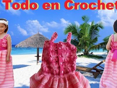 Vestido en tela, crochet y tunecino para Reyna de Primavera.Fiesta.Evento Parte 2 de 2
