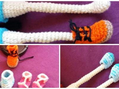 Zapatos para Muñeca a Crochet - Modelo #1
