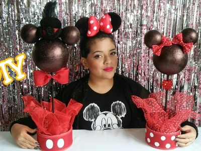 Centro de Mesa de Minnie y Mickey Mouse. DIY Minnie Mouse & Mickey Mouse Centerpieces