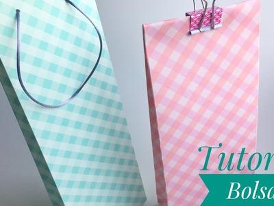 Como hacer bolsas de regalo con papel de Scrapbooking. Fácil!