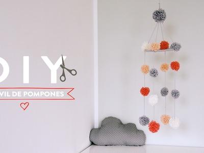Cómo hacer un móvil de pompones para bebés | DIY Westwing
