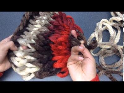Cuello  dos en uno - tejido fácil con dedos - Estambres Karina