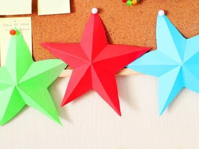 DIY 3D Estrella de Origami - Facilisimo - manualidadesconninos