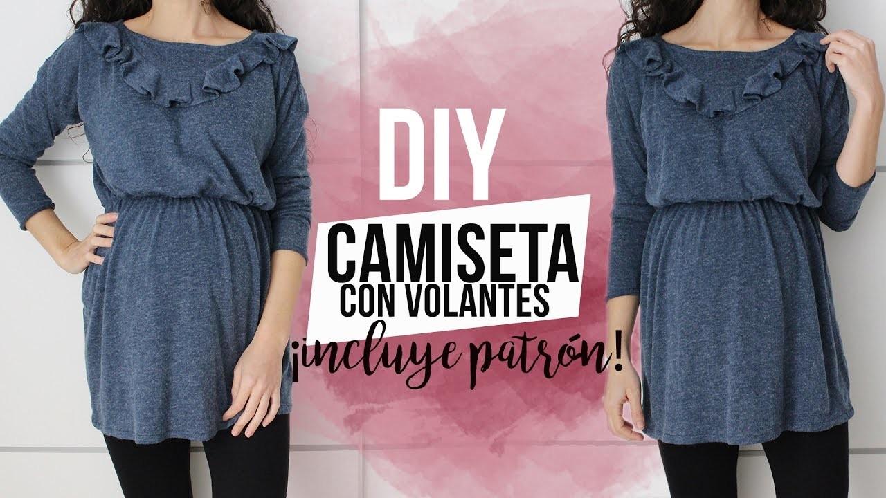 DIY CAMISETA CON VOLANTE   ¡Incluye patrón!