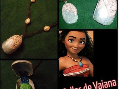 DIY Collar de Vaiana.Moana y corazón de Te fiti