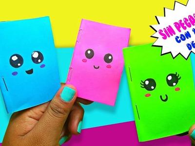 DIY Minicuaderno KAWAII con 1 sola hoja de papel |  Manualidades Regreso a clases