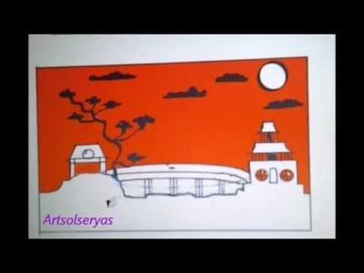 Herramienta Autodesk como dibujar un paisaje en primera dimensión, How to draw a landscape 1D