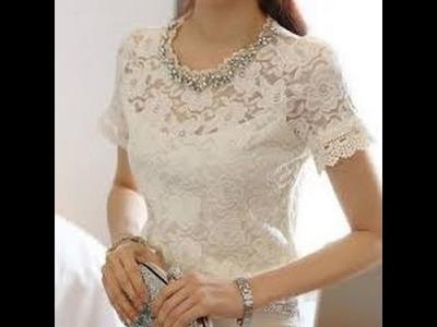 How to make lace blouse - como hacer una blusa de encaje