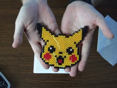 How to make Pikachu with Hama beads. Creando a Pikachu con Hama