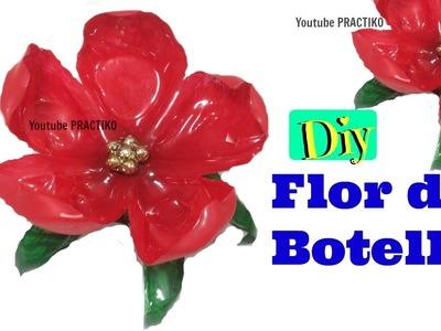Manualidades flores hechas con botellas de plastico paso a paso  PRACTIKO