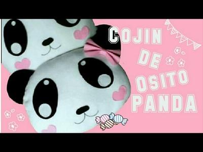 Cojín de panda| Diy kawaii y fácil.