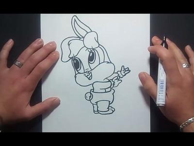 Como dibujar a Lola Bunny paso a paso - Looney Tunes | How to draw Lola Bunny - Looney Tunes