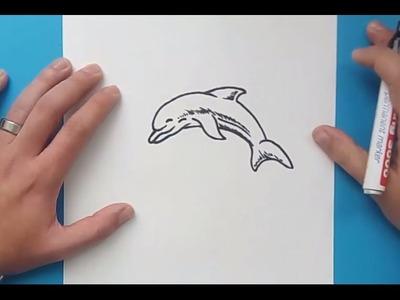 Como dibujar un delfin paso a paso 4 | How to draw a dolphin 4