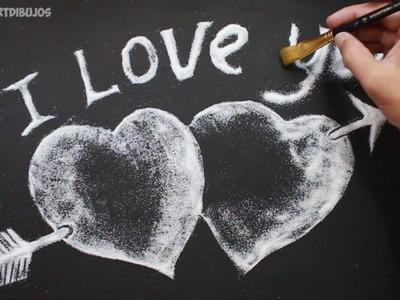 Love - Amor ♥ Como Dibujar corazones ♥ Dia de San Valentin♥ │Valentines Day