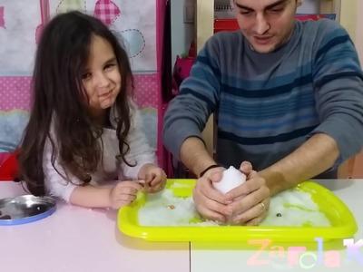Probamos nieve magica que se hace en 1 SEGUNDO