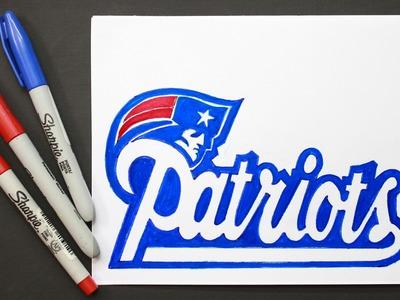 Super Bowl LI │How to draw patriot shield │ Como Dibujar escdo patriotas
