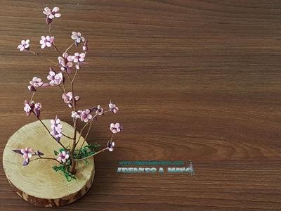 DIY árbol de flor de cerezo fácil