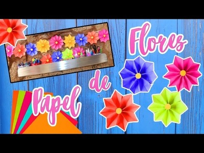 DIY DECORACIÓN CON FLORES DE PAPEL - Ingenio KD