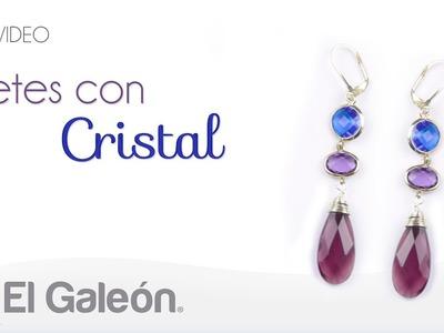 DIY El Galeón Aretes con Cristal