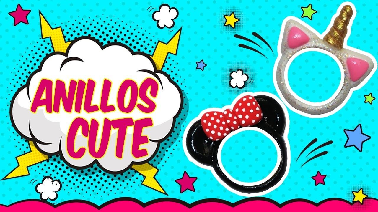 ♥ Tutorial: Anillos DIY de Mickey.Minnie Mouse y Unicornio CUTE ♥