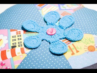 Almohadón de flor. Pillow sewing. Blumenkissen Nähen