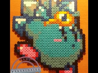 Ice Kirby Hama beads midi