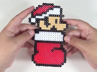 Bota Navideña de Mario Bros con Hamma Beads| Tierras de Rol