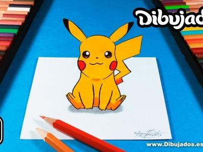 Como dibujar a PIKACHU en 3D | Dibujemos en 3D  - Dibujados