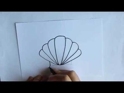 Cómo dibujar una Concha de Mar Dibuja Conmigo Dibujos de Verano