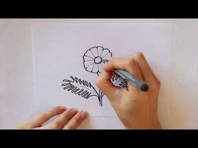 Cómo dibujar una Margarita Dibuja Conmigo dibujos de Flores