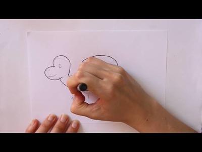 Cómo dibujar una Tortuga Dibuja Conmigo Dibujos de Animales