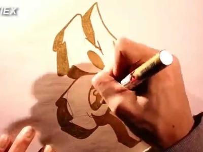 Como hacer letras de graffitis 3D - Dibujar, pintar y colorear graffiti nombres 3D paso a paso HD